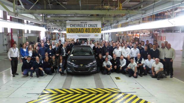 40.000 Chevrolet Cruze são fabricados na Argentina