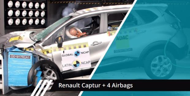 Renault 'Captura' quatro estrelas da segurança para ocupantes  adultos