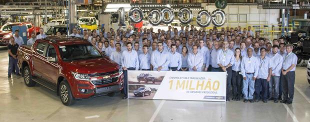 S10 e Trailblazer atingem marca de 1 milhão de unidades produzidas no Brasil