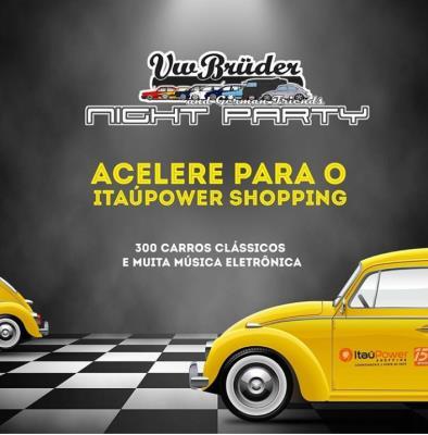 ItaúPower Shopping promove exposição noturna de carros